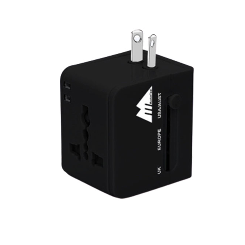 MasterTool - MasterTool Worldwide Dual USB AC Power Plug Universal Travel Adapter,BLACK