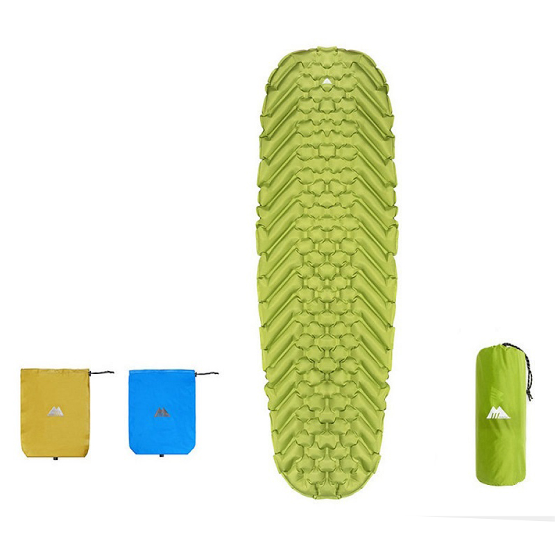 MasterTool - Ultralight light Inflatable Sleeping Floor Mat, Green - with Inflatable Bag, size of 185x58x5cm