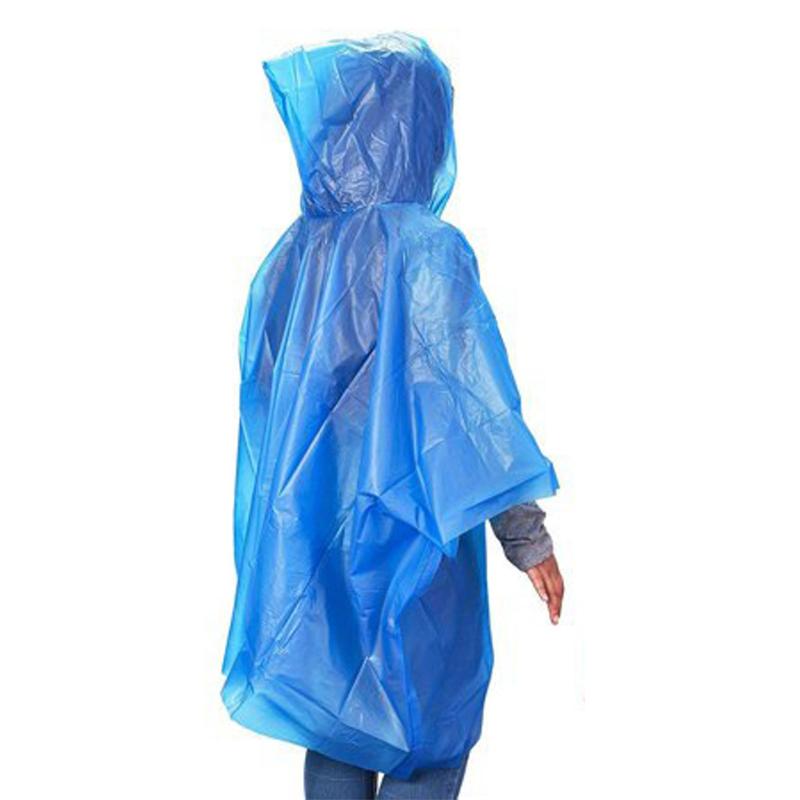 MasterTool - (1pc)Raincoats, Emergency Ponchos, Survival Shelter, youth/Ladies size Transparent white, green, blue