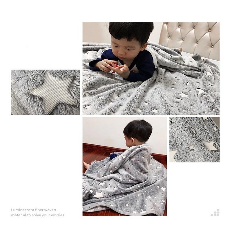 MasterTool - Fleece Blanket, Glow, Star Blanket, Outdoor, Quilt, cooler, size of 127*152cm