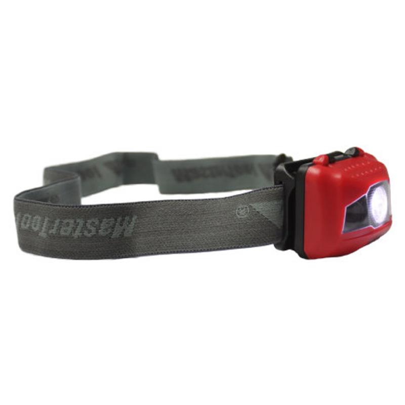 MasterTool - Cree 3W High Performance Headlamp, 200 Lumen - Red