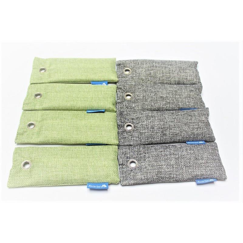 Mastertool - 【8 packs】Charcoal Air Purifying Bag,100g-Green(4pcs)+ Gray(4pcs)