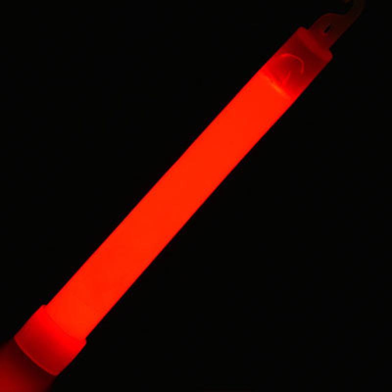 MasterTool - 6 inch Light Stick, Glow Stick with Lanyard, Red,(2pcs/pack)