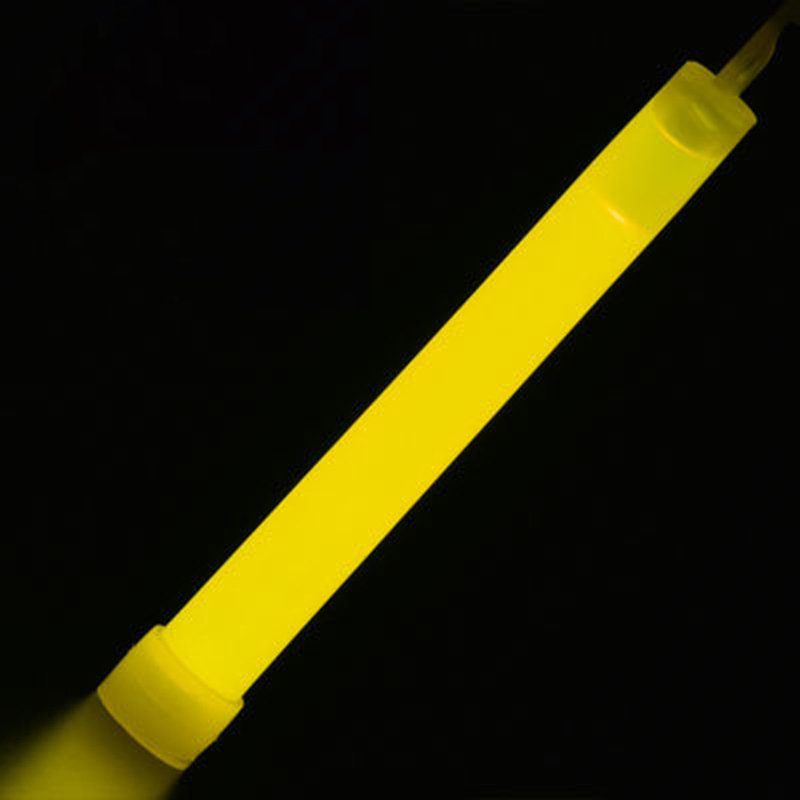 MasterTool - 6 Inch Light Stick, Glow Stick with Lanyard, Yellow,(2pcs/pack)
