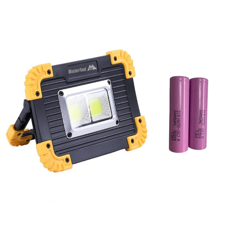 MasterTool - Camping Lantern, Camping Light, COB Work Light, Power Bank with 5200mAh Samsung Lithium Batteries