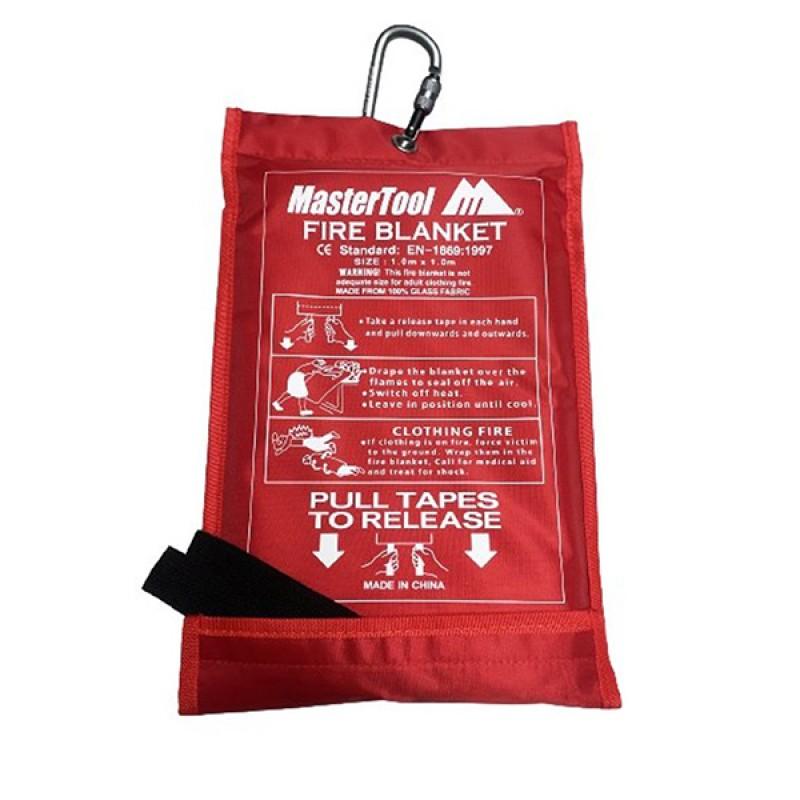 MasterTool - Fire Blanket ,1.0 *1.0M  (Carabiner sent randomly)
