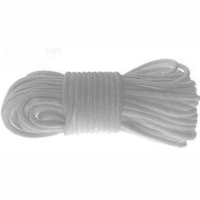 MasterTool - Heavy Duty Paracord, Nylon, Rope, Cord, 550lbs - Length of 15 meters(290-5C50-15_White)